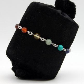 Bracelet 7 Chakras Chaîne perle et chaîne modèle O
