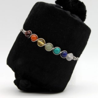 Bracelet 7 Chakras barrette et chaîne