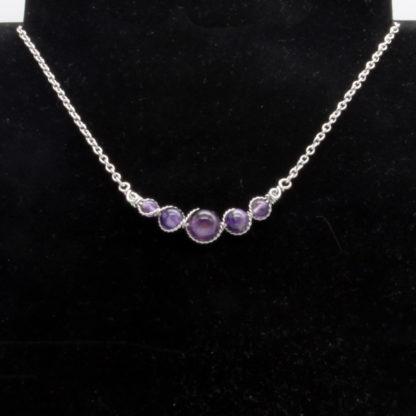 Collier Perles de Améthyste.