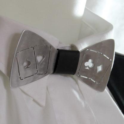 Nœud papillon en aluminium découpé 4 as.
