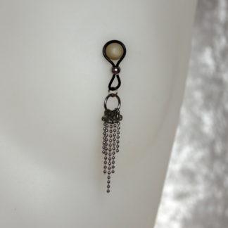 Bijoux pour seins sans piercing, 5 chaînes billes inoxydable